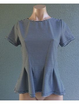 Portmans Short Sleeve Peplum Blouse Top Striped Size S Buy7=Free Post L447 by Portmans