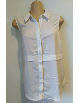 Portmans White Sleeveless Blouse Top. Size 8 by Portmans