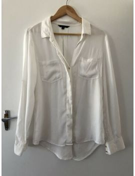 Portmans Ladies Longsleeve Pretty White Top Size 10 by Portmans