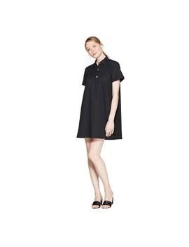 Women's Short Sleeve V Neck Trapeze Shirtdress   Who What Wear by Neck Trapeze Shirtdress