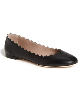 'lauren' Scalloped Ballet Flat by ChloÉ