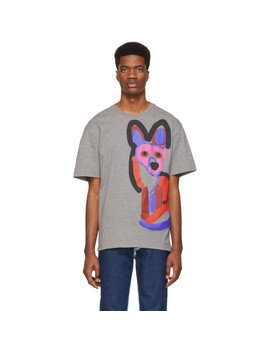 Grey Acide Fox T Shirt by Maison KitsunÉ