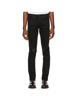 Black Fit 1 Distressed Jeans by Rag & Bone