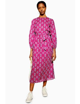 Tile Print Midi Dress by Topshop