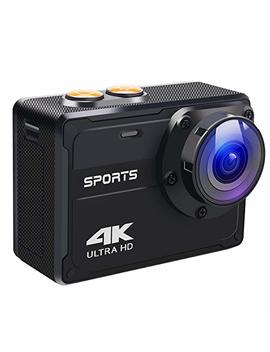 Action Camera, 16 Mp 4 K Wi Fi Sport Video Camera, Ultra Hd 2.0 Inch Lcd Screen 150 Degree Wide Angle Waterproof Sport Dv Camera With Mounting Accessories Kits by Yamtion