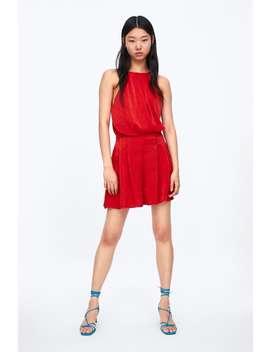 ca1080cd Shoptagr | Satin Jumpsuit New Inwoman by Zara