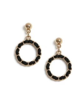 Black Fabric Chain Earrings by Dorothy Perkins