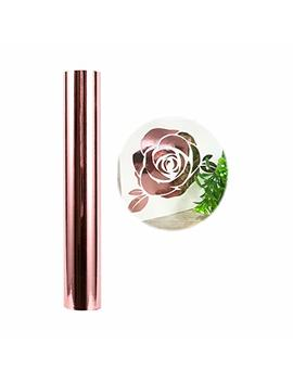 Holographic Craft Vinyl Chrome Rose Gold Vinyl Roll – Huge Glossy Adhesive Permanent Rose Gold Vinyl Rolls – 1x5 Ft Vinyl Works With Cricut And Other Cutters by Vinyl Frog