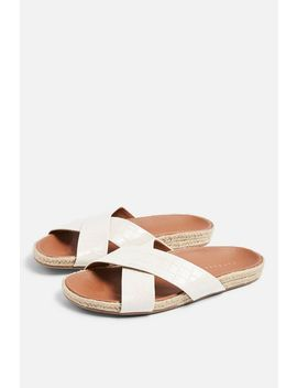 Rachel White Footbed Sandals by Topshop