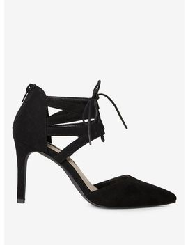 Black Lace Up 'Elle' Court Shoes by Dorothy Perkins