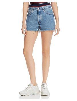 501-high-rise-cutoff-denim-shorts-in-flat-broke by levis