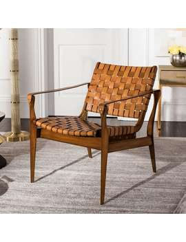 Safavieh Couture Dilan Leather Safari Chair by Safavieh