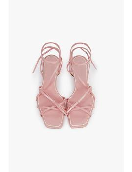 Round Heel Leather Sandals by Genuine People