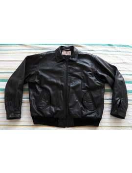 131311c8d Levi's vintage MENS LEATHER JACKET Size L Large bomber black Made in Korea  Levis Levi Strauss