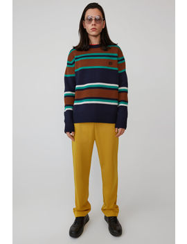 Knit Sweater Navy Multicolor by Acne Studios