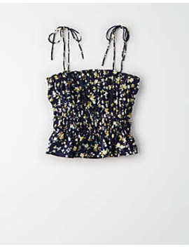 ae-studio-smocked-tie-cami by american-eagle-outfitters