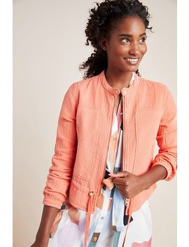 Joyce Textured Moto Jacket by Anthropologie