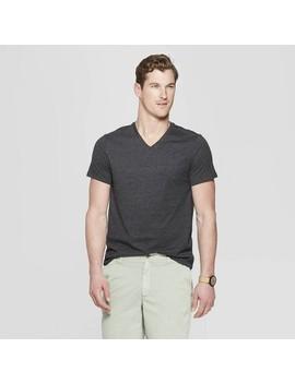 Men's Standard Fit Short Sleeve Lyndale V Neck T Shirt   Goodfellow &Amp; Co by Neck T