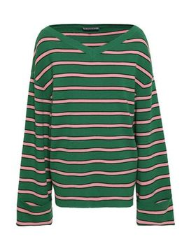 Striped Wool And Cotton Blend Sweater by Alexachung
