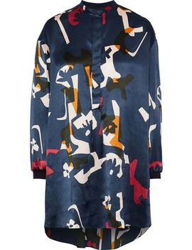 Nakata Printed Silk Satin Tunic by Roksanda