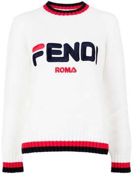 Logo Print Jumper by Fendi