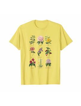 Vintage Botanical Floral Flower T Shirt by Vintage Flora Tees