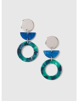 Multi Colour Geometric Resin Earrings by Dorothy Perkins