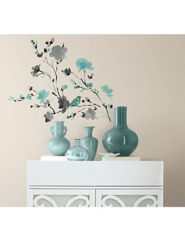 Room Mates Blossom Watercolor Bird Branch Peel And Stick Wall Decals by Room Mates