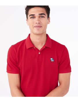 Novelty Patch Piqué Polo by Aeropostale