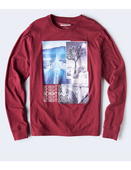 Long Sleeve Be Right Back Graphic Tee by Aeropostale