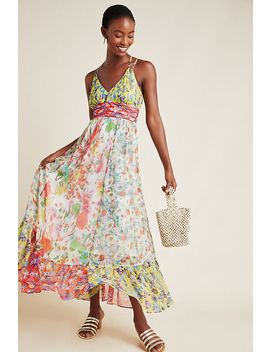 Malibu Floral Maxi Dress by Anthropologie