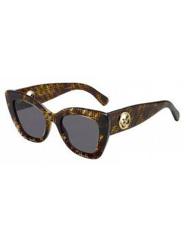 New Fendi Fd Ff0327 Sunglasses 0086 Dark Havana 100% Authentic by Fendi