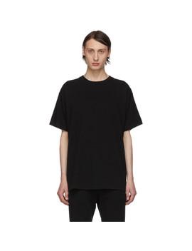 Black University T Shirt by John Elliott