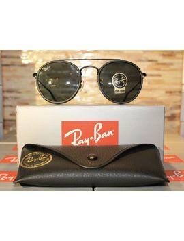 Ray Ban Round Double Bridge Sunglasses 3647 N 002/R5 51mm Black Frame/Grey Lens!! by Ray Ban