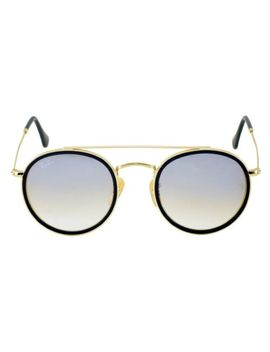 Ray Ban Rb3647 N Rb3647 N Round Double Bridge 001/9 U Gold Frame/Silver Gradient by Ray Ban