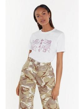 Playing It Koi East Asian Graphic Tee by Nasty Gal