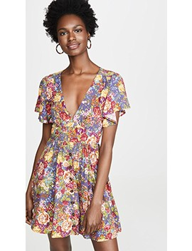 Magnolia Violet Mini Dress by One By Auguste
