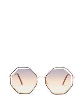 Poppy Octagon Frame Sunglasses by Chloé