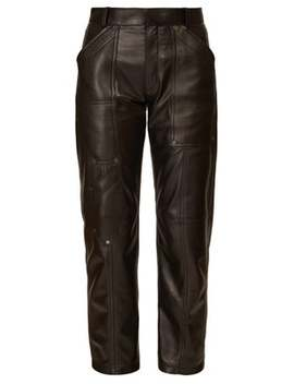 Panelled Leather Trousers by Chloé
