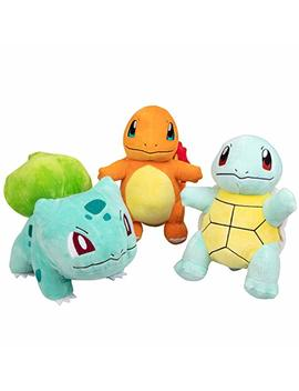 "Pokémon Plush Starter 3 Pack   Charmander, Squirtle &Amp; Bulbasaur 8"" Generation One Stuffed Animals by Pokemon"