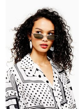 Half Rim Slim Sunglasses by Topshop