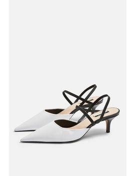 Jammy Black And White Point Strappy Shoes by Topshop