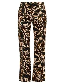 Paisley Print Velvet Trousers by Chloé