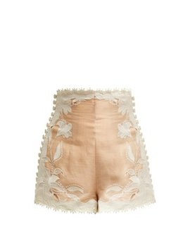 Corsage Lily Lace Shorts by Zimmermann