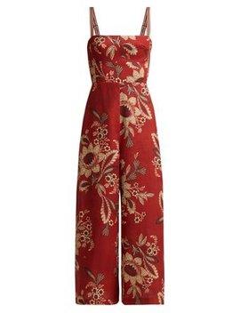 Juno Floral Print Linen Jumpsuit by Zimmermann