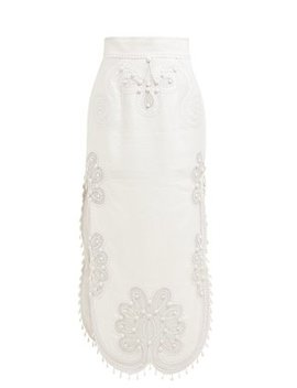 Ninety Six Rick Rack Embellished Long Skirt by Zimmermann