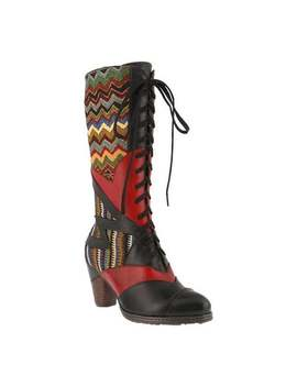 L'artiste By Spring Step Women's Malag Boot Black Multi Leather/Textile by L'artiste By Spring Step