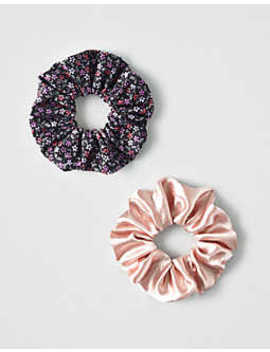 Aeo Blush + Floral Scrunchies 2 Pack by American Eagle Outfitters