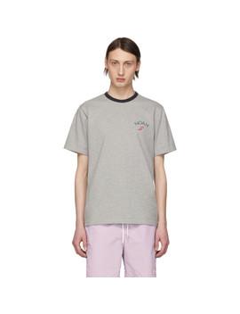 Grey Winged Foot T Shirt by Noah Nyc
