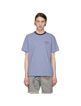 Blue Winged Foot T Shirt by Noah Nyc